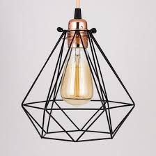 Edison Pendant Lights Geometric Vintage Edison Light Bulb Cage For Pendant