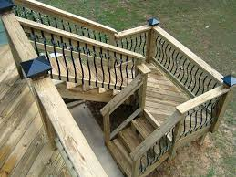 build deck stairs with landing radnor decoration