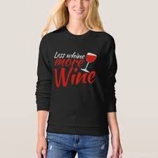 less whine more wine sweatshirt women u0027s american apparel raglan