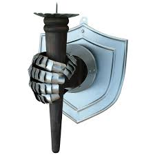Torch Wall Sconce Torch Sconce Wall Sconce Ideas With Shield And Gauntlet Holding A