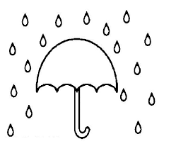 Umbrella In Rain Coloring Pages Free Coloring Pages Rainy Day Coloring Pages