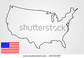 map of the united states free us map silhouette vector