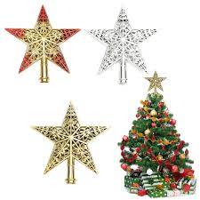 tree top ornaments lights decoration