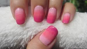 real asian beauty pink ombre nail art tutorial