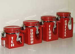 colorful kitchen canisters kitchen canister sets in color homesfeed