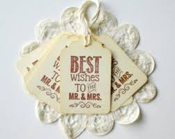 wedding wish tags best wishes gift tag etsy