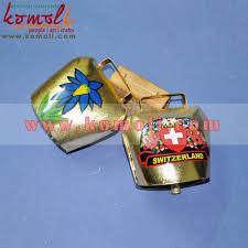 custom souvenirs swiss cowbell home decoration brass metal bell