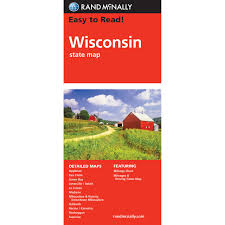 Wisconsin State Map by Rand Mcnally Easy To Read State Folded Map Wisconsin