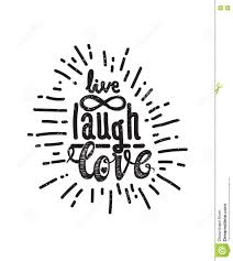 poster live laugh love stock vector image 82075336