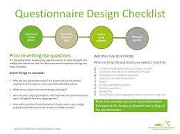 questionnaire design questionnaire design checklist health survey solutions