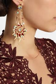 percossi papi earrings lyst percossi papi diego sun and moon goldplated multistone