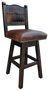Counter Height Swivel Bar Stool Hacienda Swivel Bar Stool Cowhide Southwestern Bar Stools And