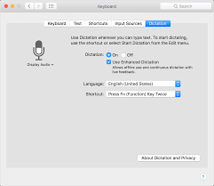 use your voice to enter text on your mac apple support