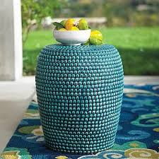 Ceramic Side Table The Outdoor Accent Table Stylish Ceramic Ethnic Side Pottery Barn