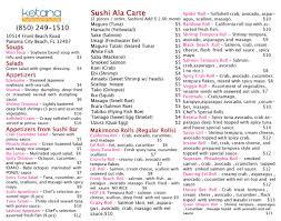 ketana thai restaurant u0026 sushi bar menu urbanspoon zomato
