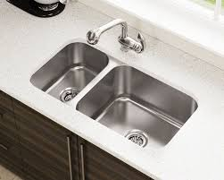 BR Offset Double Bowl Stainless Steel Kitchen Sink - Double bowl undermount kitchen sinks
