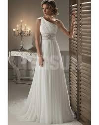 robe de mariage simple robe de mariée simple à traîne court en mousseline de soie à seule