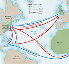 colonial america map colonial trade routes and goods national geographic society