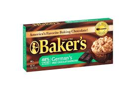 baker u0027s german chocolate baking squares 4 oz box kraft recipes