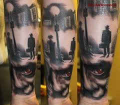 half sleeve scary alien tattoo photo 3 photo pictures and