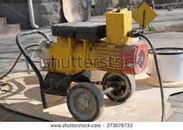 large milling machine removing old pavement stock photo 34607245