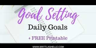 goal setting worksheet template setting goals free daily goals worksheets in 7 colors