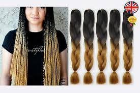 ombre kanekalon braiding hair 5 black brown blonde ombre two tone dip dye kanekalon braiding