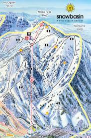 Ski Utah Map by Olympic Downhill Courses At Snowbasin Ski Mag