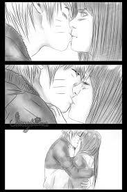naruto x hinata first kiss sketch by shamylicious on deviantart