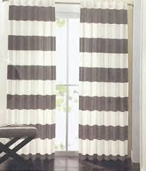 White And Navy Striped Curtains Wide Striped Curtains Foter