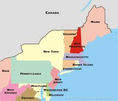 map of northeast us states with capitals northeastern us political map by freeworldmaps net