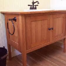 Shaker Style Bathroom Cabinet by Shaker Bathroom Vanity Cherry Vanity