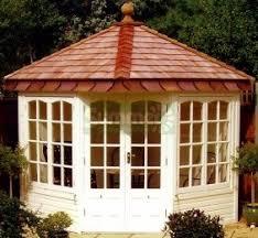 Garden Summer Houses Corner - summerhouse 511 cedar painted georgian