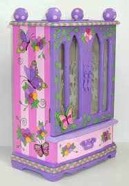 Girls Jewelry Armoire Hand Painted Jewelry Boxes Jewelry Armoires Keepsake Boxes