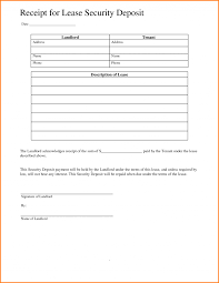 security deposit receipt survey template words rental invoice word