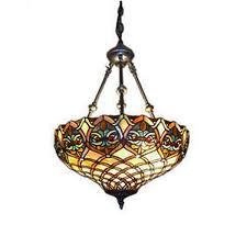 2 Pendant Light Fixture Serena D U0027italia Tiffany Style Baroque 2 Light Hanging Lamp Free