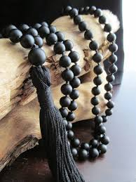 aliexpress bead necklace images 108 bead matte black onyx mala beads necklace knotted necklace jpg