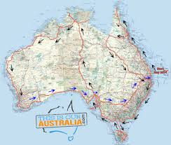 Road Trip Map Caravan Road Trip Itinerary Around Australia