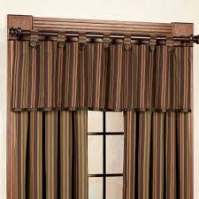 wilderness ridge striped window treatments