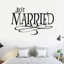 married quotes promotion shop for promotional married quotes on just married quotes wall sticker new design pvc waterproof removable self adhesive wallpaper for car bedroom wedding home decor