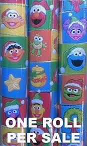 christmas wrapping paper sale sesame christmas wrapping paper big bird
