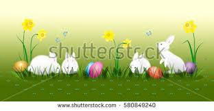 easter stuff frohe ostern party flyer happy easter stock vector 580849240