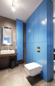 apartment astounding blue wallpaper bathroom decoration interior