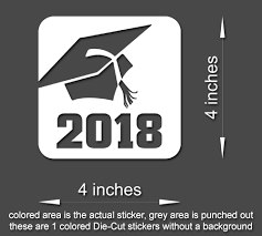 graduation vinyl class of 2017 or 2018 graduation vinyl sticker decal car window