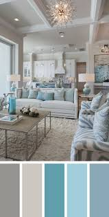 Blue Color Living Room Designs - nature inspired color palettes cold temperature ash grey and stony