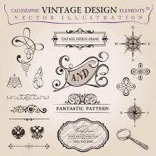 calligraphic elements vintage decor vector frame ornament stock
