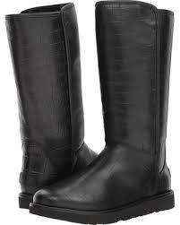 womens boots ugg deals on ugg abree ii croc black s boots