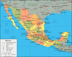 map of mexico cities mexico map of cities geography map of mexico regional political