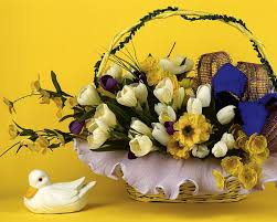 beautiful easter baskets flowers basket wallpaper easter flowers basket 7 wallcoo net