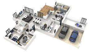 plan de maison gratuit 4 chambres plan interieur maison contemporaine 1 plan de maison gratuit 4